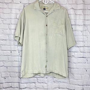 Tommy Bahama Summer Embroidered Silk Polo M